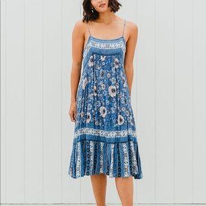 Spell Zahara Midi Dress in Blue NWT size XS